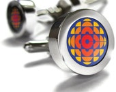 CBC Retro 70s Cufflinks - gifts for men, Canada themed gifts, retro gifts, CBC, broadcast, Canadian gifts, Canadian Cuff links, dad gift