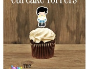 Ariel & Friends Party - Set of 12 Prince Eric Cupcake Toppers by The Birthday House