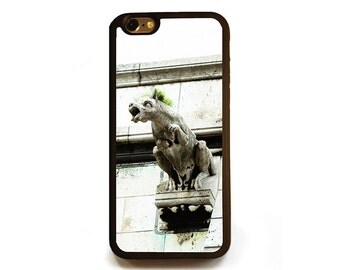 French Gothic Punk iPhone 6s case, Protective rubber case for iPhone 6 or 6s, France, gargoyle Halloween photography silicone cellphone case