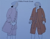 SALE   1760s Frock Coat Pattern Reconstructing History Clothing Pattern  802