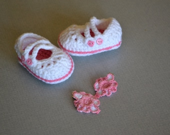 Mary Janes and Hair Bows in Baby Pink