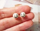 SALE - Smiley Face Ball Earrings