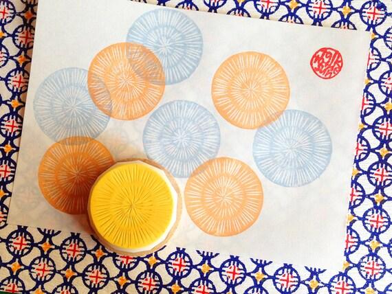 Circle pattern stamp texture rubber organic