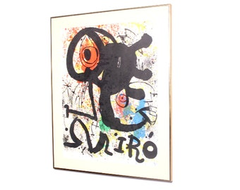 Miro Cartons Lithograph large print 1950s 1960s mid century modern vintage abstract modernist wall art