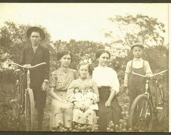 Dolls and Bicycles - 1910s RPPC