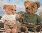 Post Free Teddy Bear Clothes Knitting Pattern / 8ply  Yarn / Teddy's Fairisle Sweater / PDF instant download Post Free