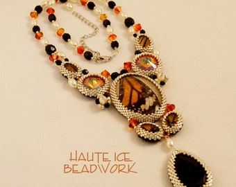 Butterfly Collection Statement Necklace Monarch Fireplace Ember