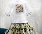 Girl's Easter Outfit Girl Twirl Skirt & Top Girls Skirt Set Size 2T 3T 4T 5 6 7 8 10 12 14 Tween Girl Kid Gift Easter Spring Girl Clothes