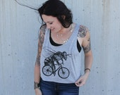 Bee on a Bicycle -  Ladies Crop Tank Top