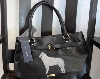 Kuvasz Dog Hand Painted Purse / Handbag / Wearable Art - One of a Kind