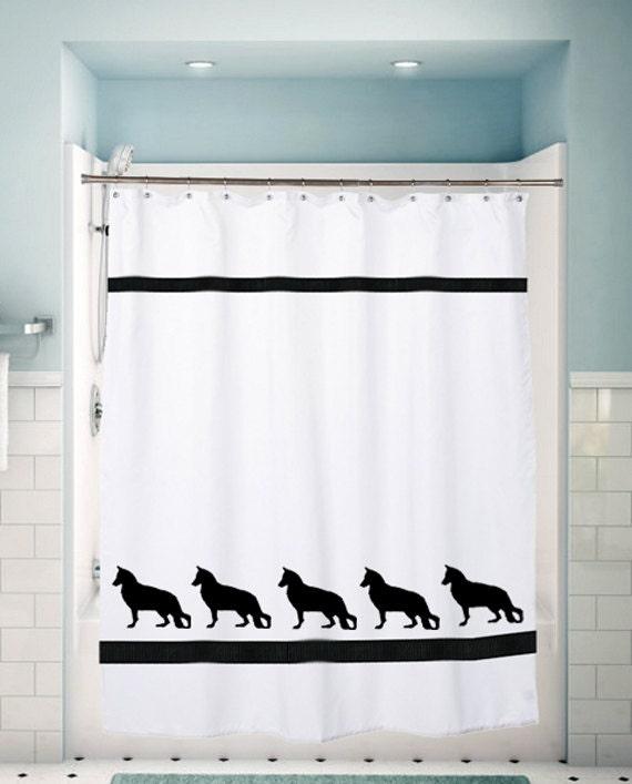 german shepherd dog shower curtain towels and valances. Black Bedroom Furniture Sets. Home Design Ideas