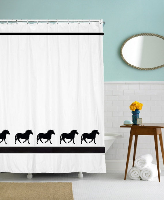 Norwegian Fjord Horse Shower Curtain - Towels and Valances available, too