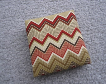 Magic Wallet, Chevrons, Reds, Golds, Mini Magic Wallet in Reds, Golds and Cream Chevron Print