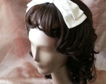 Vintage Madmen bridal hair bow