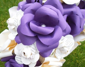 Large tear drop waterfall Colour Book Paper Bridal Wedding Bouquet bridal bouquet