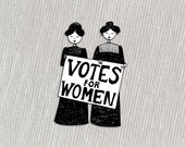 Votes for Women // suffragette feminist acrylic brooch