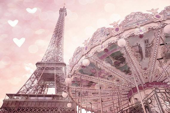 Paris Fotografie Paris Eiffelturm Karussell Drucke von KathyFornal