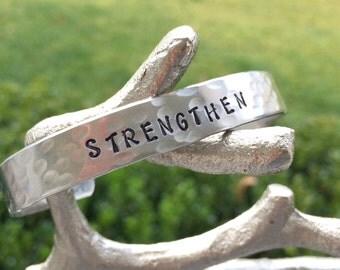 Hand Stamped One Little Word Bracelet - Word of the Year Bracelet - Motivational Bracelet - Inspirational Bracelet - My Word Bracelet