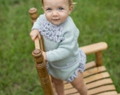 make your own Fancy Ruffles Pullover & Bottoms (DIGITAL KNITTING PATTERN) Preemie to age 4 infant baby toddler