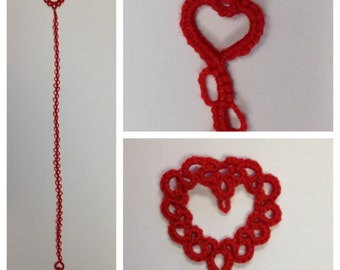 Sweetheart Balloon bookmark Hand-tatted