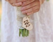 Personalized Rustic Bouquet Charm Quick Shipping Available
