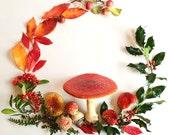 Fairy Mushroom Wreath digital file file.