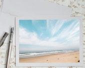Beach Photo Notecard - Coastal Nature Photography Note Card, Greeting Card, Stationery, Blank Notecard