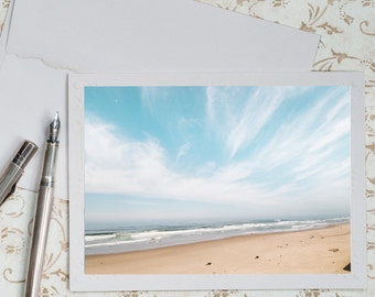 Beach Photo Notecard - Coastal Nature Photography Note Card, Greeting Card, Stationery, Blank Notecard