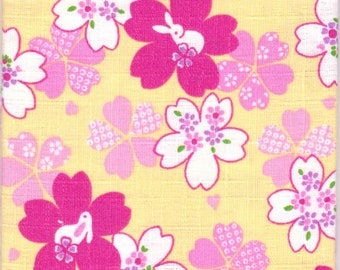 Cherry Blossom Material - 100% Cotton - 30cm x 50cm (11.8 x 19.7 inches) - Reference 3