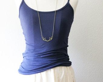 Long Layering Antler Deer Necklace > Boho Gold Antler Necklace > Bridesmaid Gifts << Vintage Rustic Wedding
