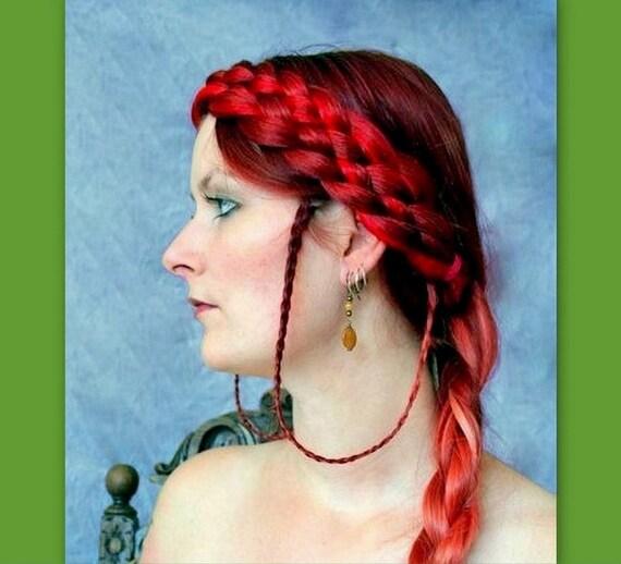 medieval renaissance faire plait headband hair wedding braided hairband plaited braid ren faire SCA hairpiece reenactment adult woman diadem