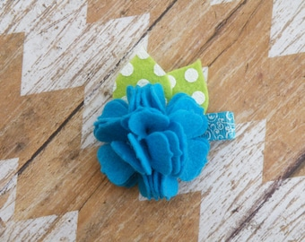 Spring Flower Clippies, Easter Carnation, Turquoise Carnation hair clip, Easter Flower, Flower Clippie, Easter Clippie