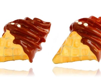 Miniature food earrings-Post Earrings-Stud Earrings- Earrings - Ice Cream Earrings - Ice Cream - food earrings - Kawaii Earrings