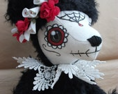 ROSA, day of the dead bear, mohair ooak