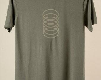 Men's T shirt Organic Bamboo/Cotton Slinky Graphic Green Tea