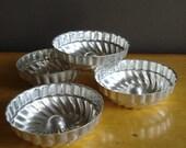 Mini Tins - Vintage Mini Cake Tins or Jello Molds - 4 Tins
