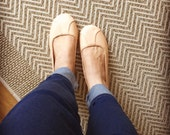 ISLANDER- Ballet Flats - Leather Shoes -39- NUDE. Available in different colours & sizes