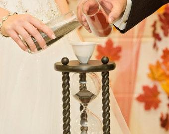 ON SALE - Heirloom Wedding Hourglass - The Aegean Wedding Unity Sand Ceremony Hourglass ™