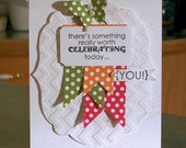 "Handmade Greeting Card - Stampin' Up Remembering Your Birthday - 5 1/2"" x 4 1/4"" - Celebrating You! - Polka Dot Banners"