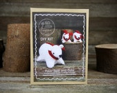 DIY Kit: Wool Felt Polar Bear and Two Cubs by Kata Golda
