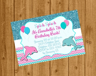 Girl Sea Birthday Party Invite Under the Sea Birthday