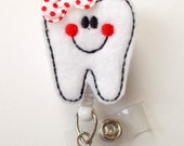 Tina the Tooth - Dental Assistant Badge Holder - Dentist Badges - Orthodontist Badge - Orthodontic Assistant Badge - Dental Hygienist Badge