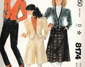 Mccalls 8174 2 piece Skirt Jacket Bolero Princess sleeve sew pattern