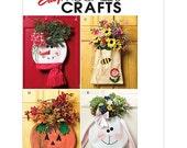 Sew & Make McCall's M5257 SEWING PATTERN - Seasonal Door Greeters Pumpkins Snowman Bunny Bee