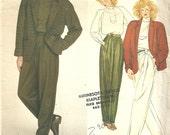 Vogue 2853 / Paris Original / Vintage Designer Sewing Pattern By Claude Montana / Pants Jacket Blouse Pantsuit Suit / Size 12 Bust 34