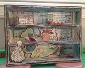 "Nursery Rhyme ""Hey Diddle Diddle"" Inspired Shadowbox - Featured in Somerset Studio July/August 2013"
