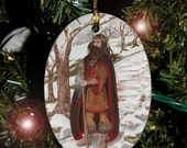 The Holly King card from The Hidden Path, Car Charm / Ornament