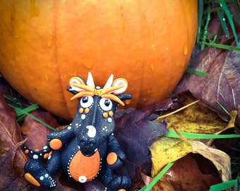 Polymer Clay Dragon 'Hallow S Eve' - Limited Edition Collectible