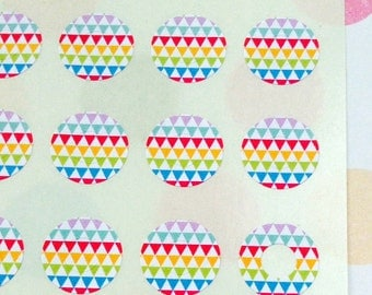 Rainbow Bunting - Trendy Page Dots - Circle Reinforcements - Labels, Stickers - Hole Reinforcements