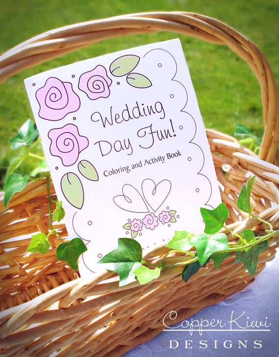 Wedding Coloring Book Kids Wedding Favors Personalized &